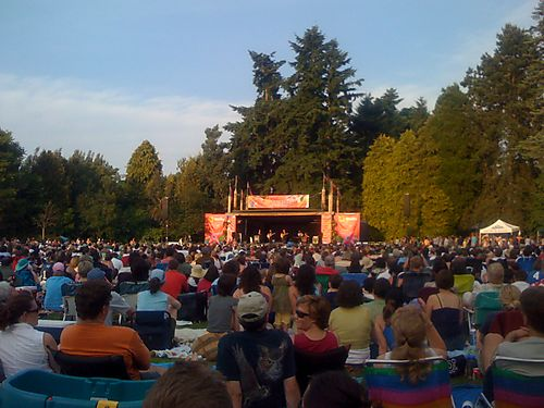 Concerts In The Park. a concert Sunday night at