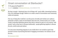 MyStarbucksIdea-GreatConversationAtStarbucks